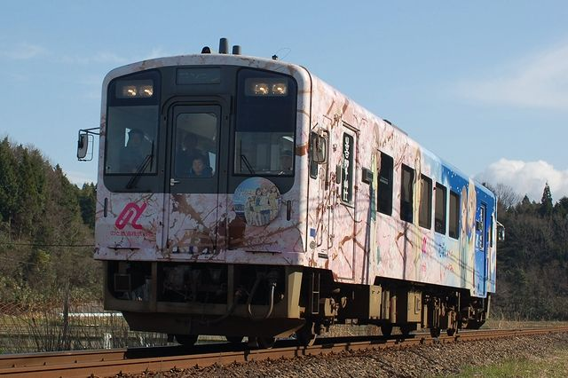 のと鉄道「花咲くいろは」ラッピング車両(1号車)