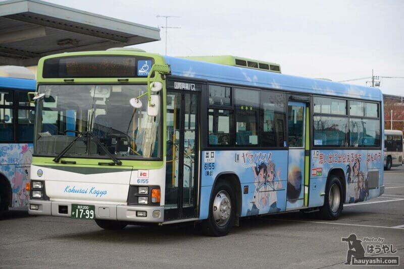 ヤマノススメラッピングバス3号車(公式側のデザイン)