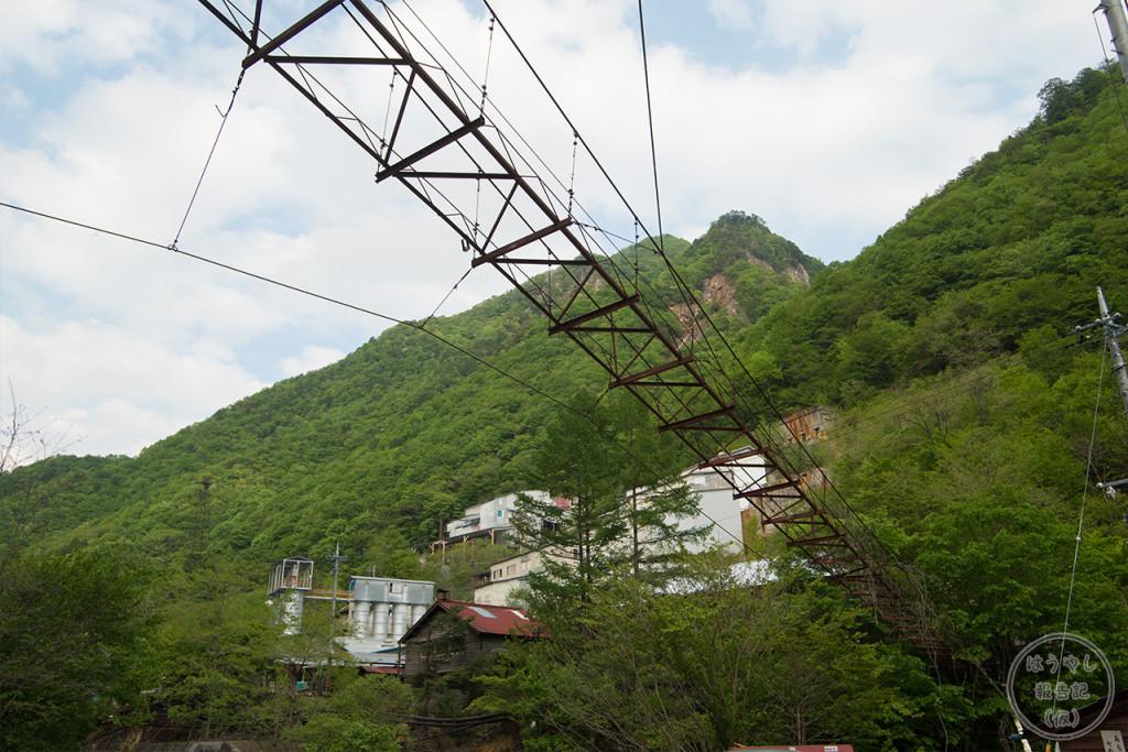 秩父鉱山に掛かる廃橋
