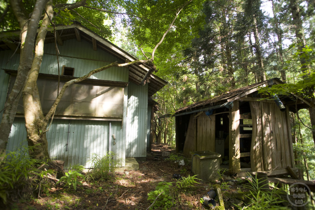 廃村の山掴集落に残る住宅廃墟