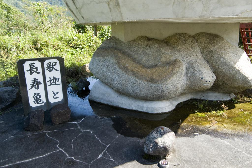 釈迦と長寿亀
