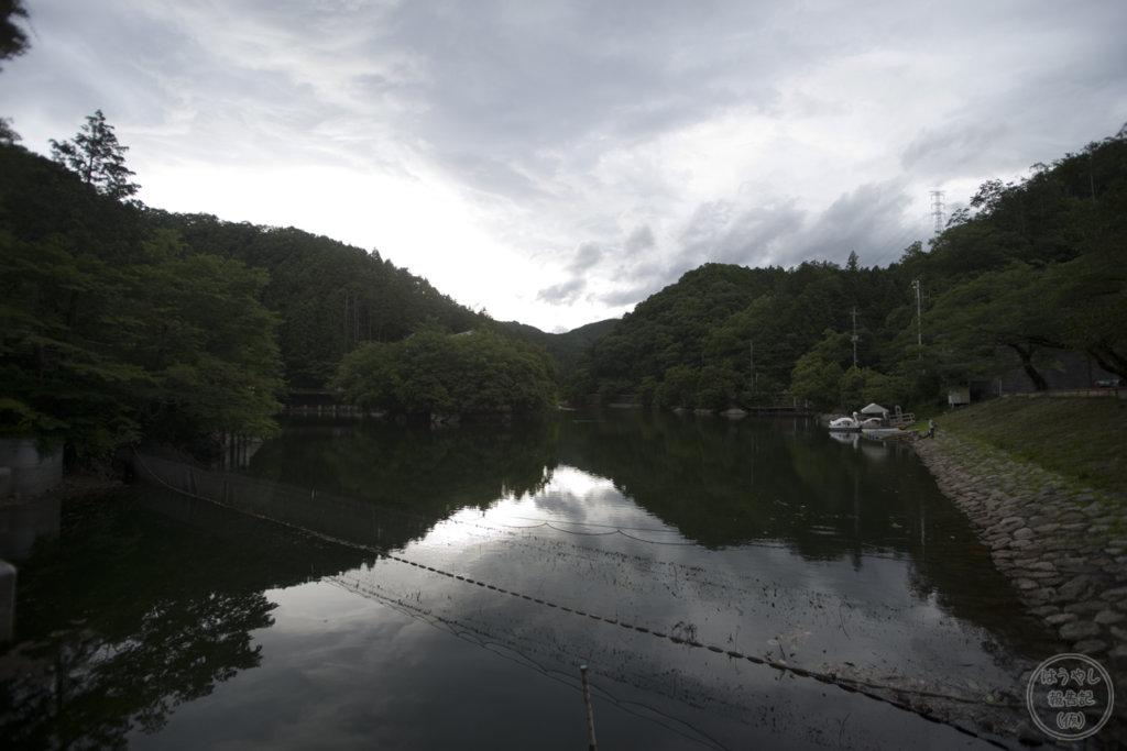 水が溜まっている普段の鎌北湖(2018年7月撮影)