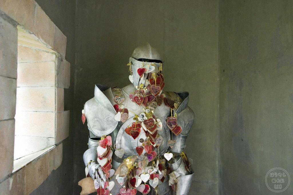 ロックハート城のスプリングベルにある甲冑