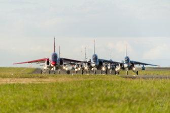 ロービジ塗装のT-4も登場!T-4練習機による入間航空祭&予行練習の模様(航空自衛隊 入間基地)