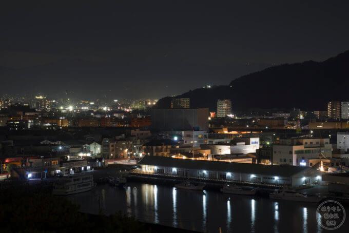 大型展望水門「びゅうお」から見た沼津漁港の夜景