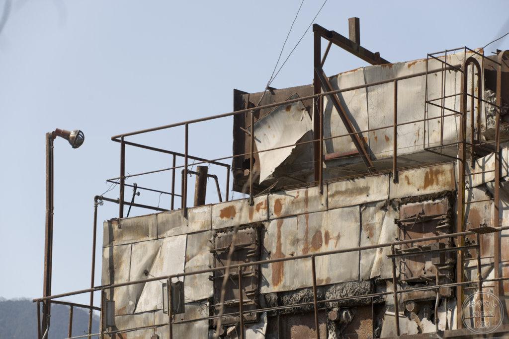 奥多摩工業氷川工場の作業用施設