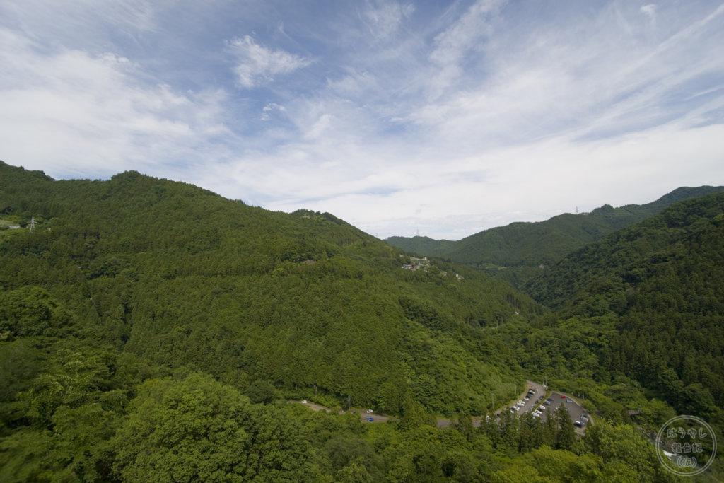 下久保ダム天端からの風景