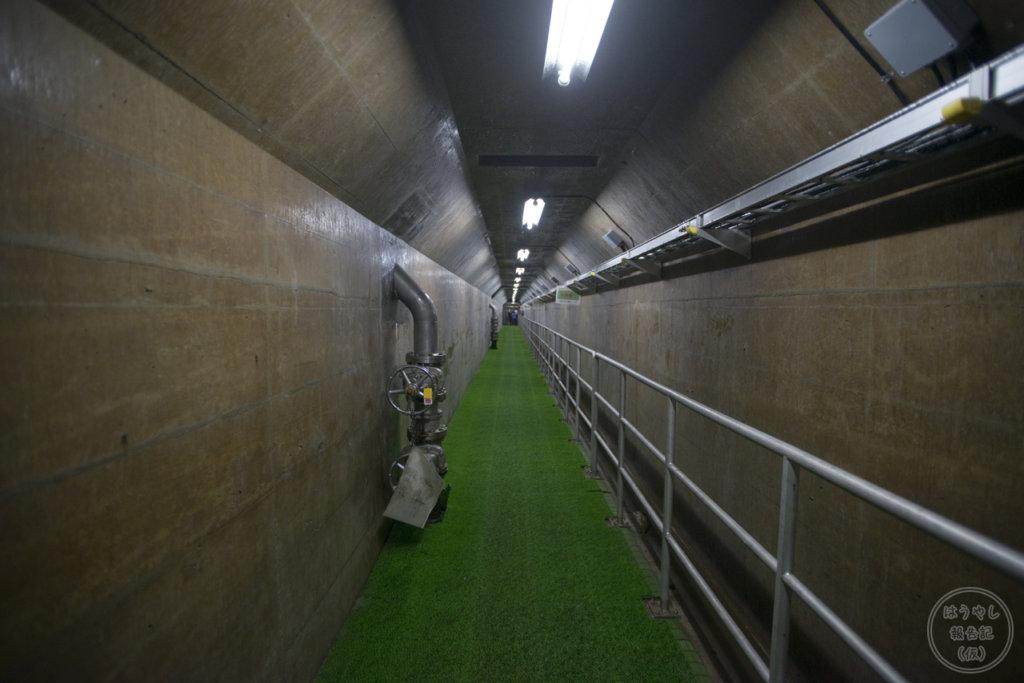 下久保ダムの内部通路