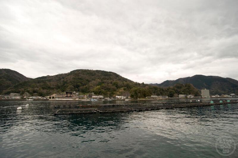 淡島から見た陸側の風景