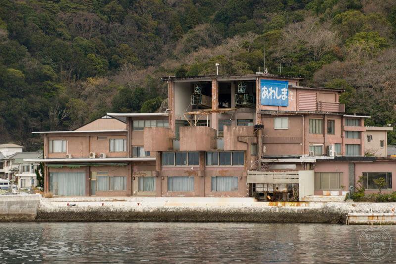 淡島ロープウェイの跡地(陸側)