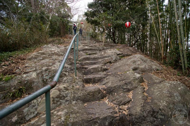 淡島神社までの登山道