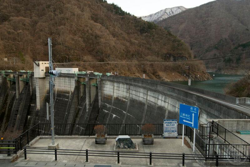 二瀬ダムの堤体