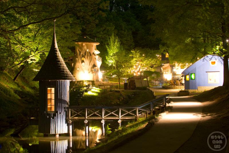 トーベ・ヤンソン あけぼの子どもの森公園 夜間ライトアップ
