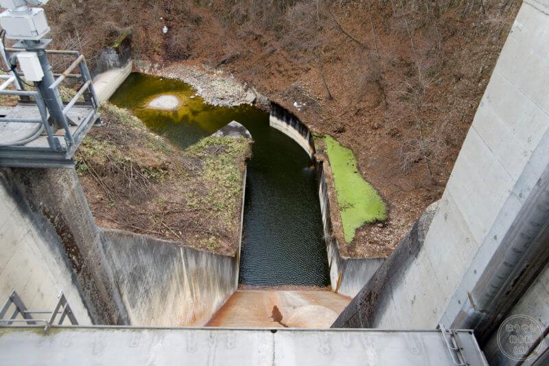 クレストゲートからの下流の眺め