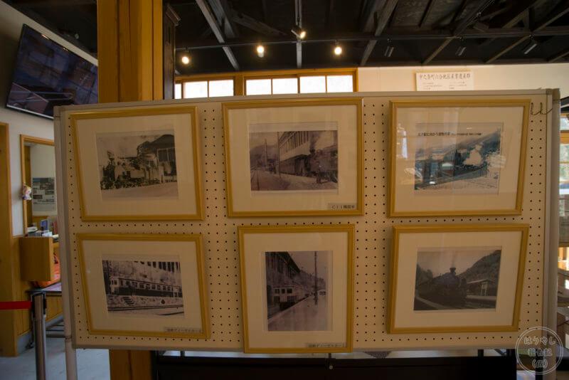 当時撮影された太子線の写真も展示されている