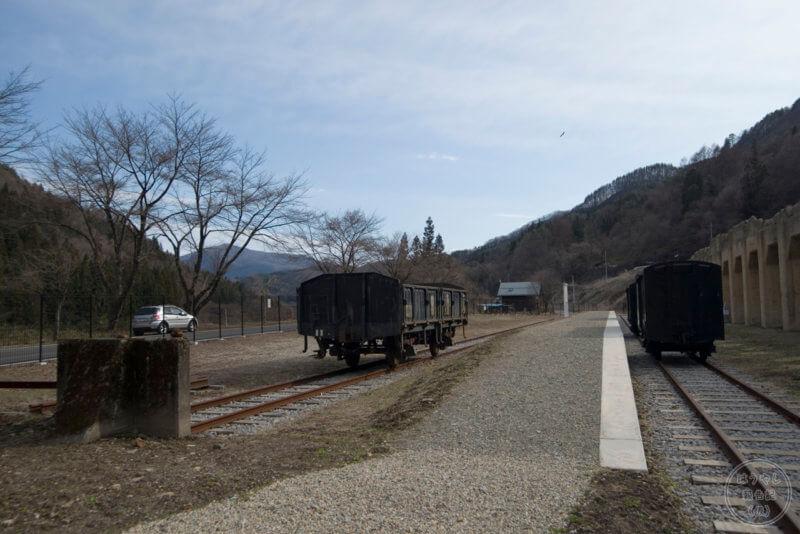 太子駅跡地に再現されたホーム