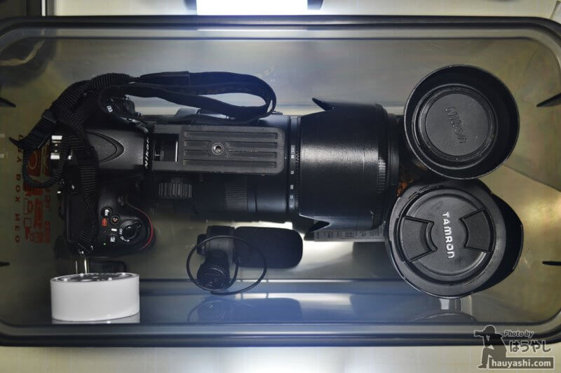Nikon D800 + SIGMA 50-500mm を収納した状態