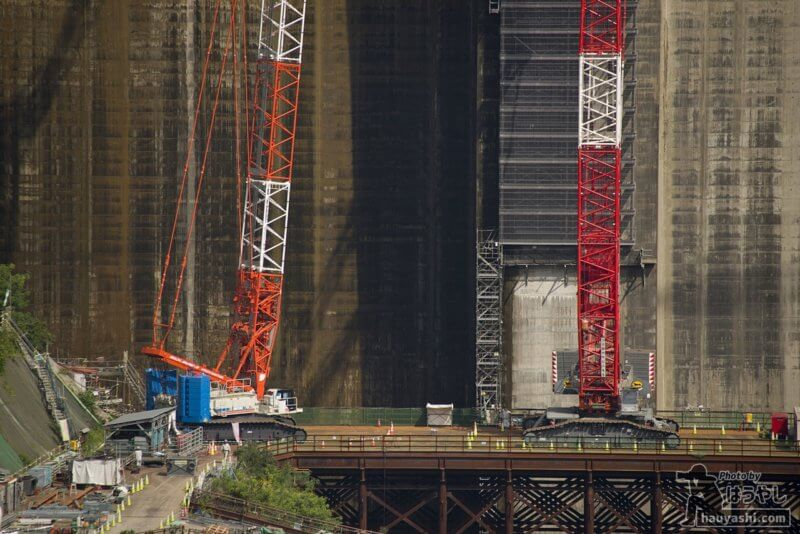 2018年10月3日 八ッ場ダム建設風景(八ッ場大橋より)