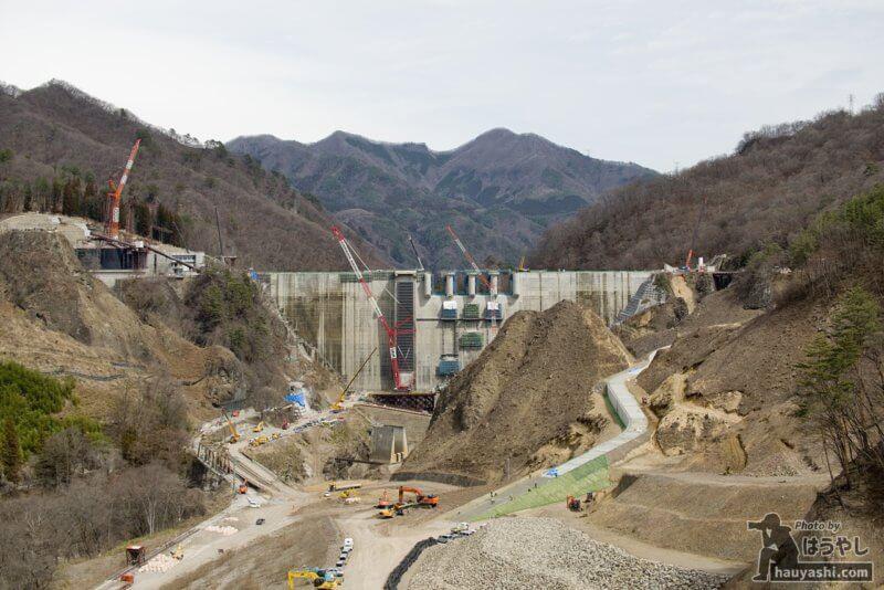2019年3月22日 八ッ場ダム建設風景(八ッ場大橋より)