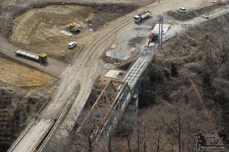 2019年3月22日 八ッ場ダム建設風景(やんば見放台より)