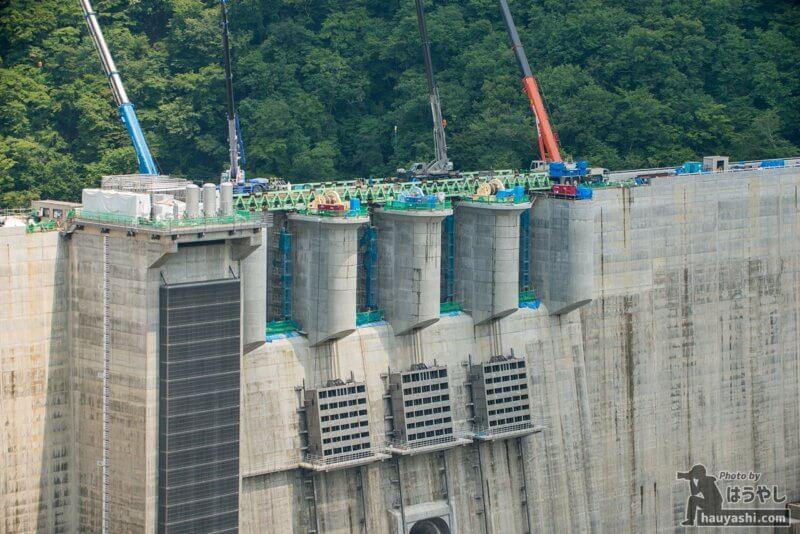 2019年7月31日 八ッ場ダム建設風景(やんば見放台より)
