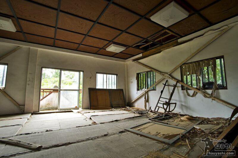 模擬天守閣の2階は畳の部屋