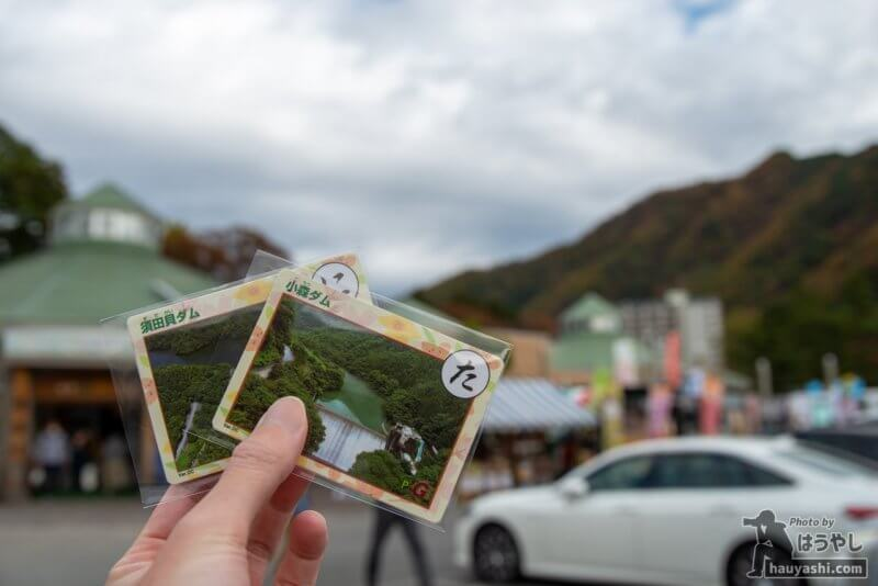 ぐんまダムかるた「須田貝ダム」「小森ダム」
