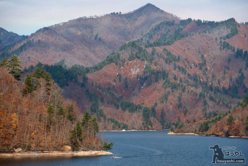 矢木沢ダムの紅葉風景(2020年11月7日)