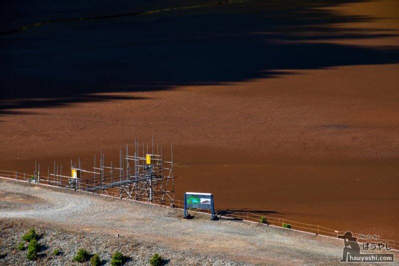 簀子橋堆積場の案内看板