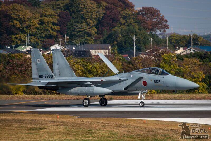 入間基地 R/W17 に着陸した F-15J (62-8869)