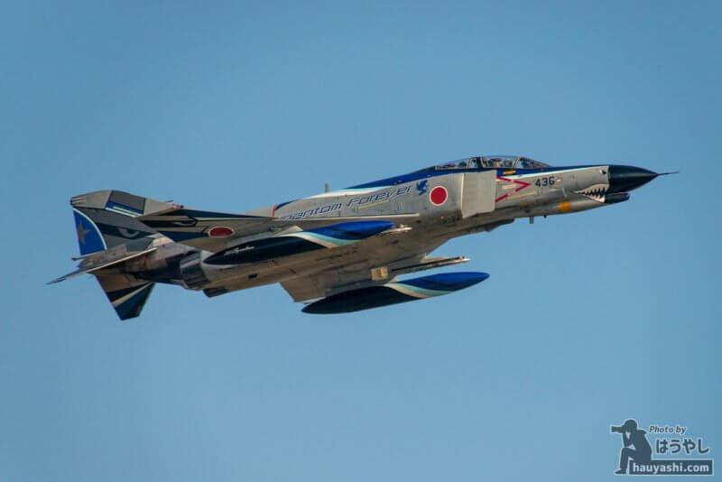 百里基地 R/W21Lを離陸したF-4EJ改(07-8436) Phantom Forever 特別塗装機