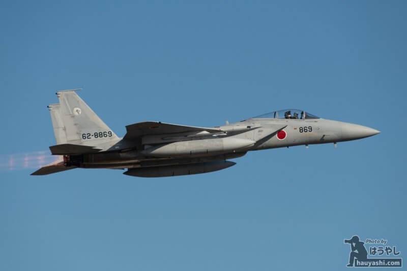 入間基地 R/W17を離陸したF-15J(62-8869)