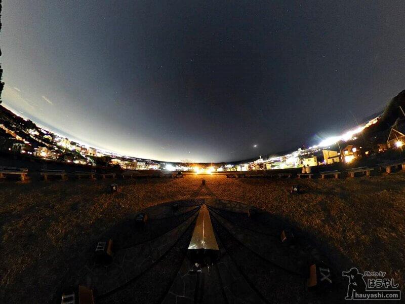 ミラーボール編集(360度カメラ「RICOH THETA SC2」)