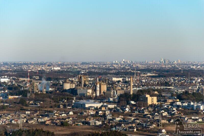 白銀平展望台から見える「大宮方面」の景色
