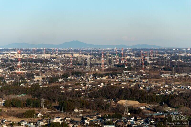 白銀平展望台から見える「茨城方面」の景色