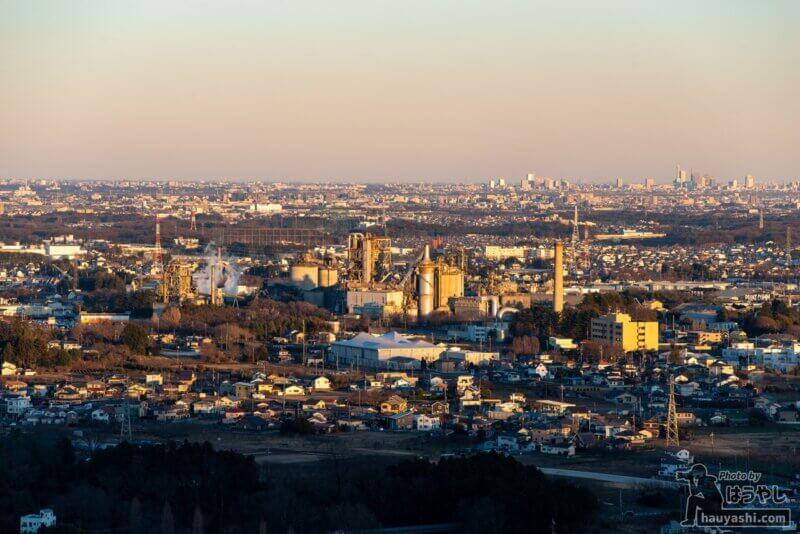 白銀平展望台からの夕景(撮影日時:1月10日 16時21分)