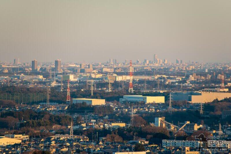 白銀平展望台からの夕景(撮影日時:1月10日 16時26分)