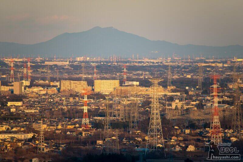 白銀平展望台からの夕景(撮影日時:1月10日 16時28分)