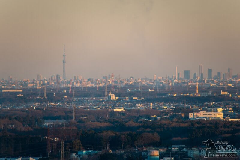 白銀平展望台からの夕景(撮影日時:1月10日 16時29分)