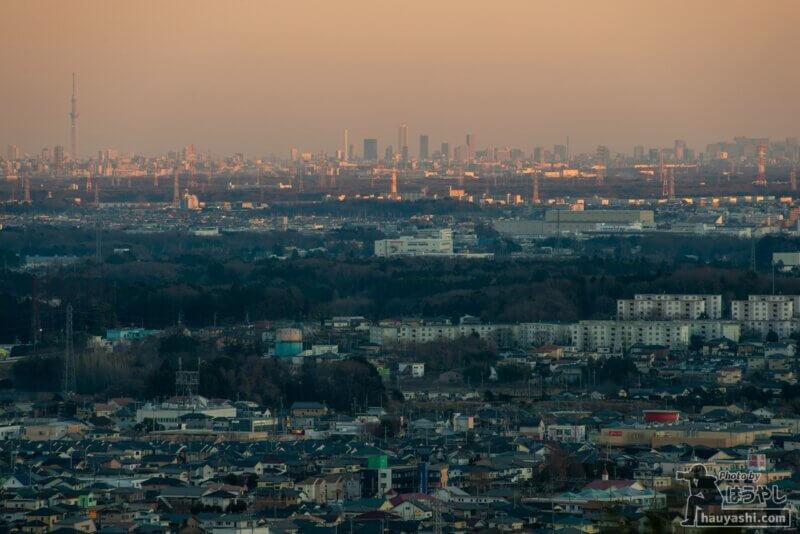 白銀平展望台からの夕景(撮影日時:1月10日 16時34分)