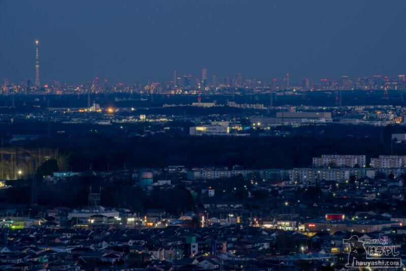 白銀平展望台からの夜景(撮影日時:1月10日 17時13分)