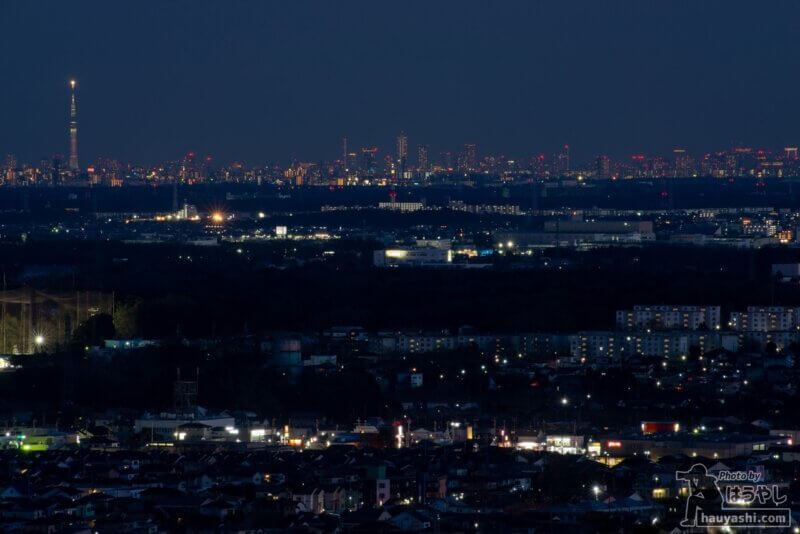 白銀平展望台からの夜景(撮影日時:1月10日 17時18分)