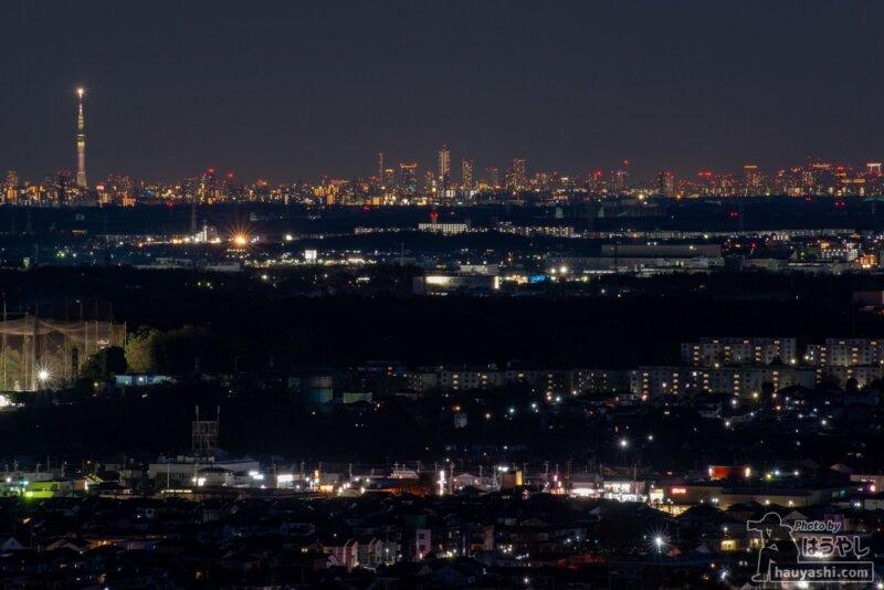 白銀平展望台からの夜景(撮影日時:1月10日 17時29分)