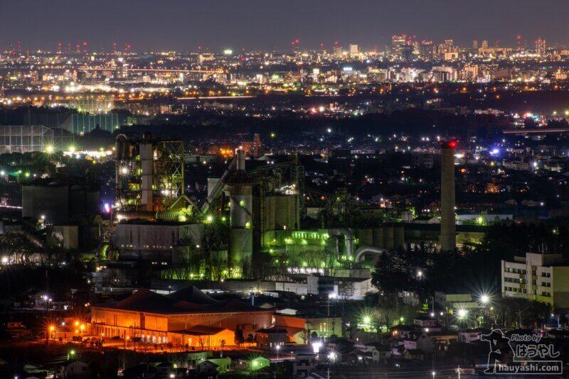 太平洋セメント 埼玉工場の夜景