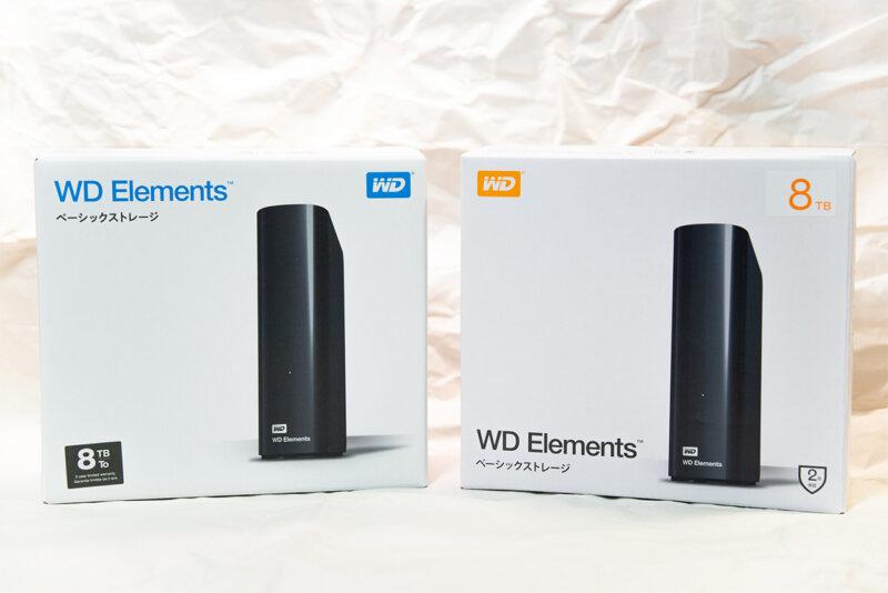 外付けハードディスク WD Elements Desktop 8TB